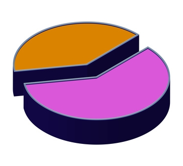 Difference Between a Bar Graph & Pie Chart