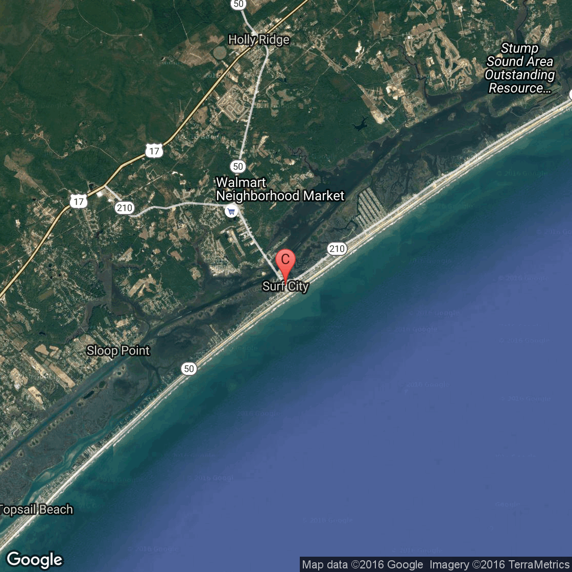 Bicycling in Surf City North Carolina on topsail island nc beach, map of topsail island nc, map of topsail island north carolina beaches, map of topsail nc area,