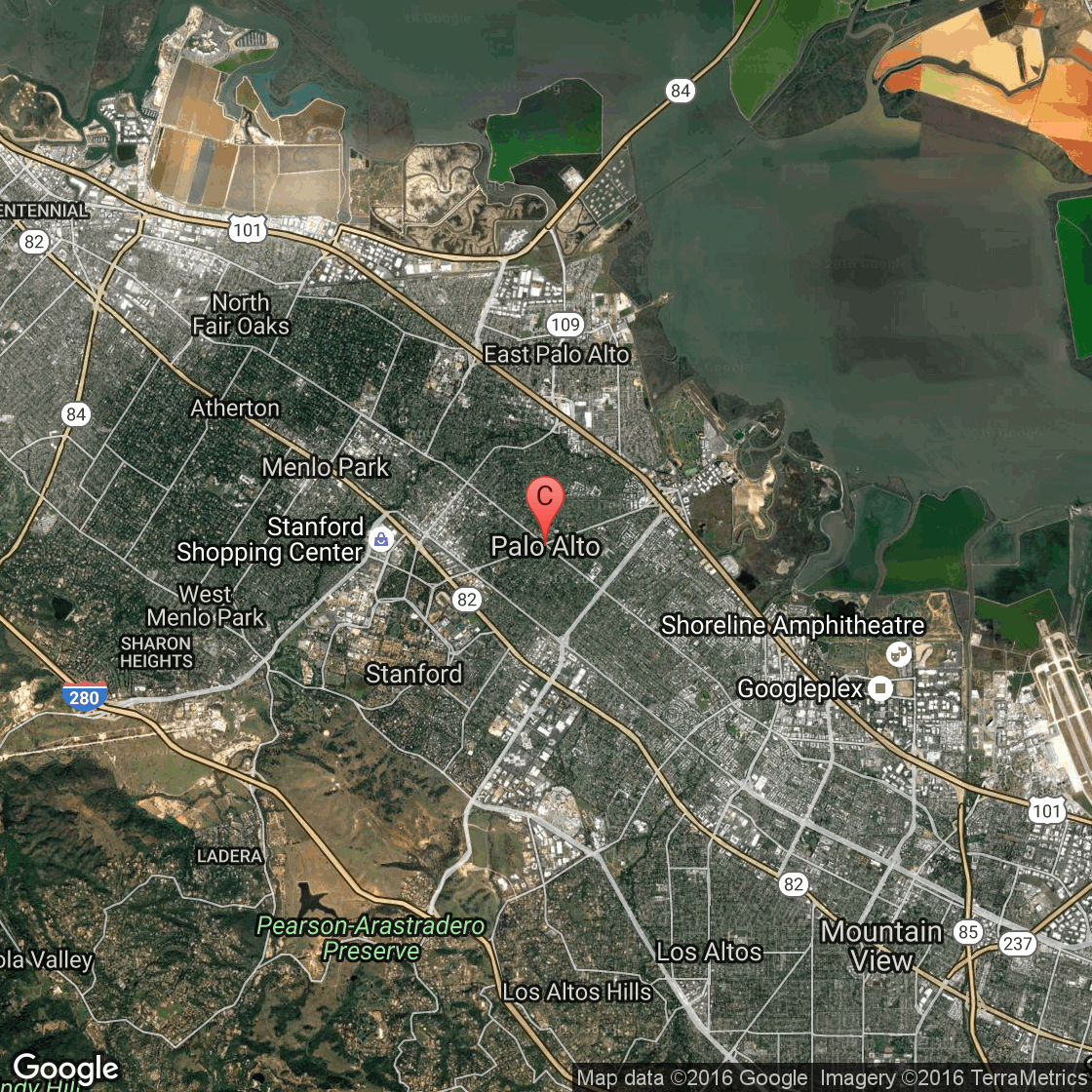 Bike Paths in Palo Alto California