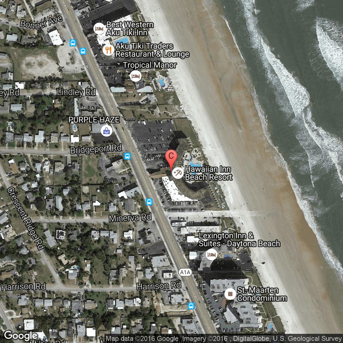 Hotels Near The Hawaiian Inn In Daytona Beach Florida USA Today - Florida map daytona area