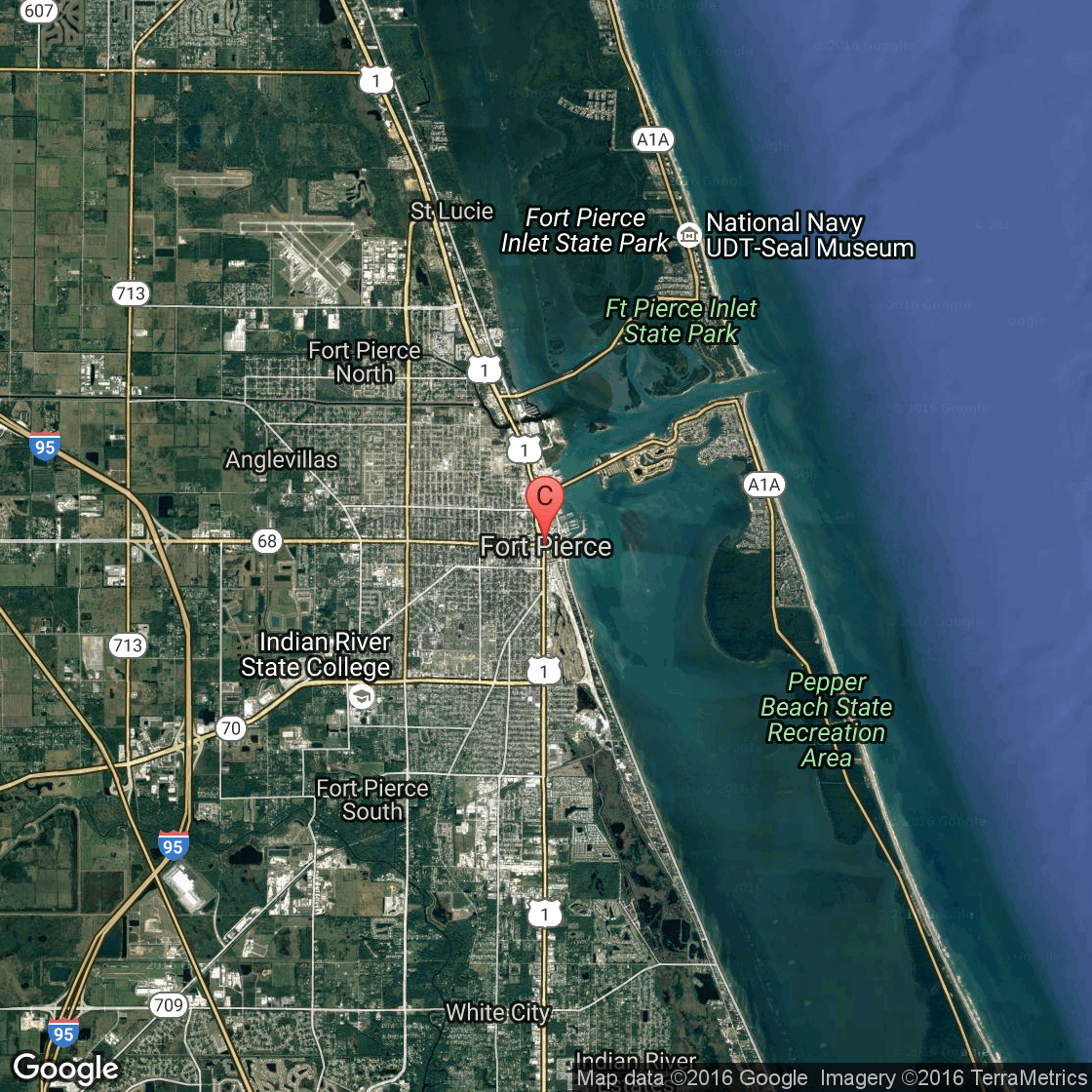 Hotels On The Oceanfront Of Fort Pierce Florida USA Today - Florida map ft pierce