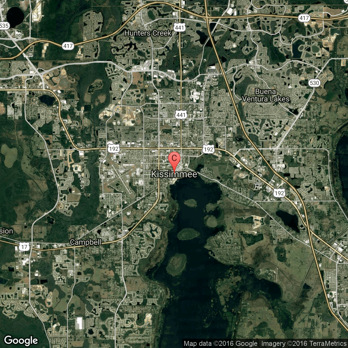 kissimmee florida map hotels