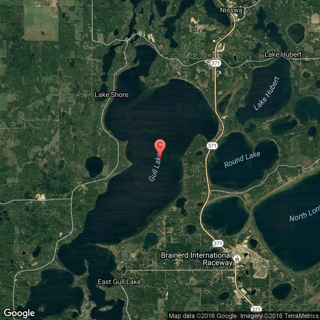 Ice fishing on gull lake minnesota usa today for Fishing lake maps