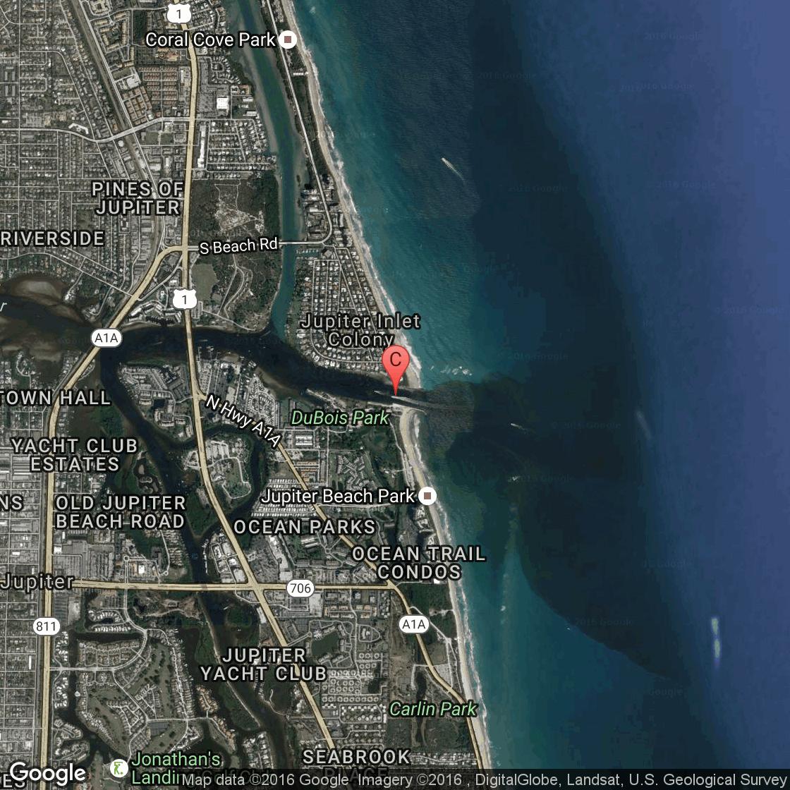 Intracoastal Fishing In Jupiter Florida USA Today - Florida map jupiter