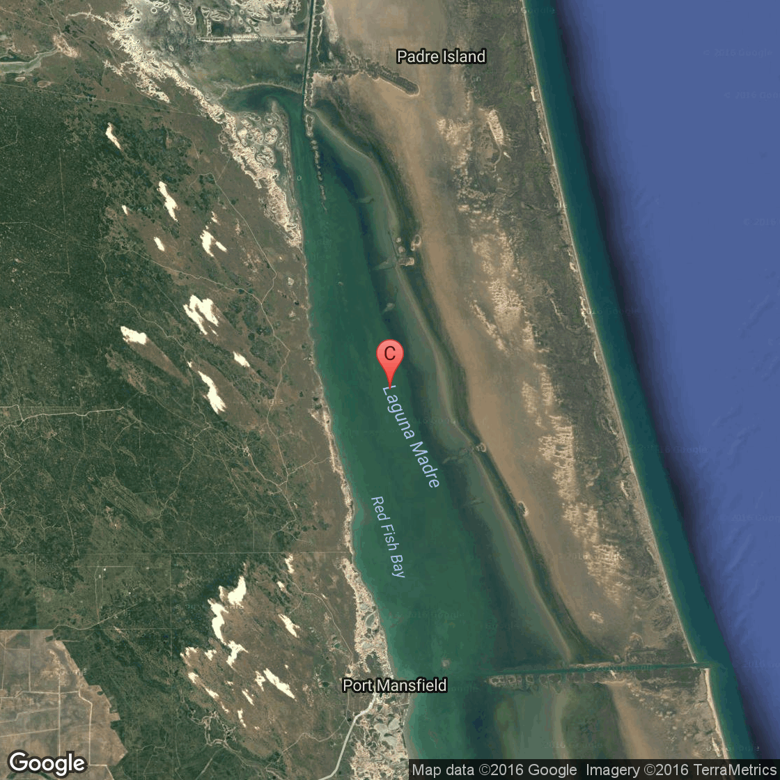 Kayaking On Laguna Madre Near Port Mansfield Texas Usa