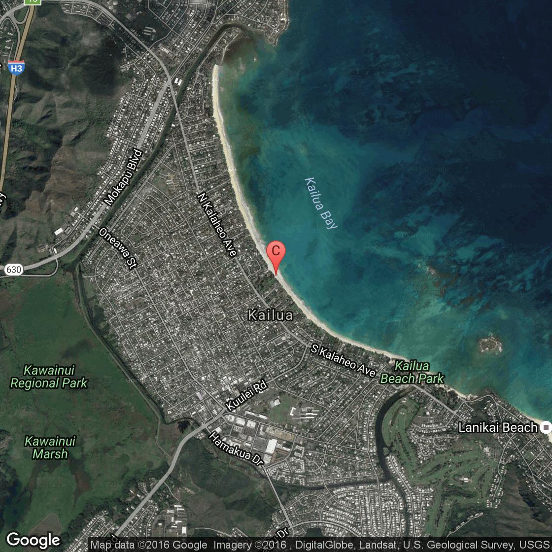 Kailua Town Map Cartoon