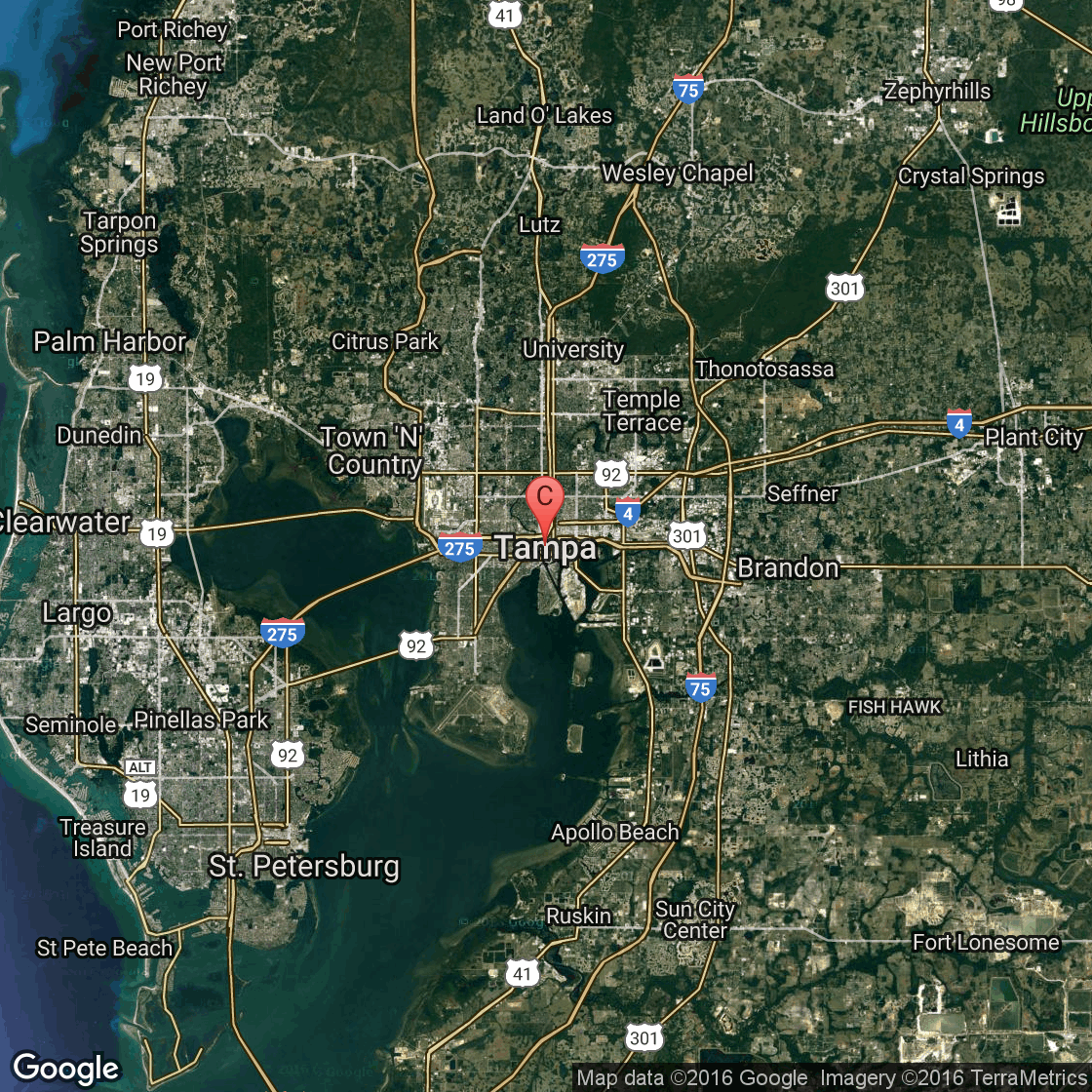 PetFriendly Beaches Near Tampa Florida USA Today - Map of florida cities near tampa