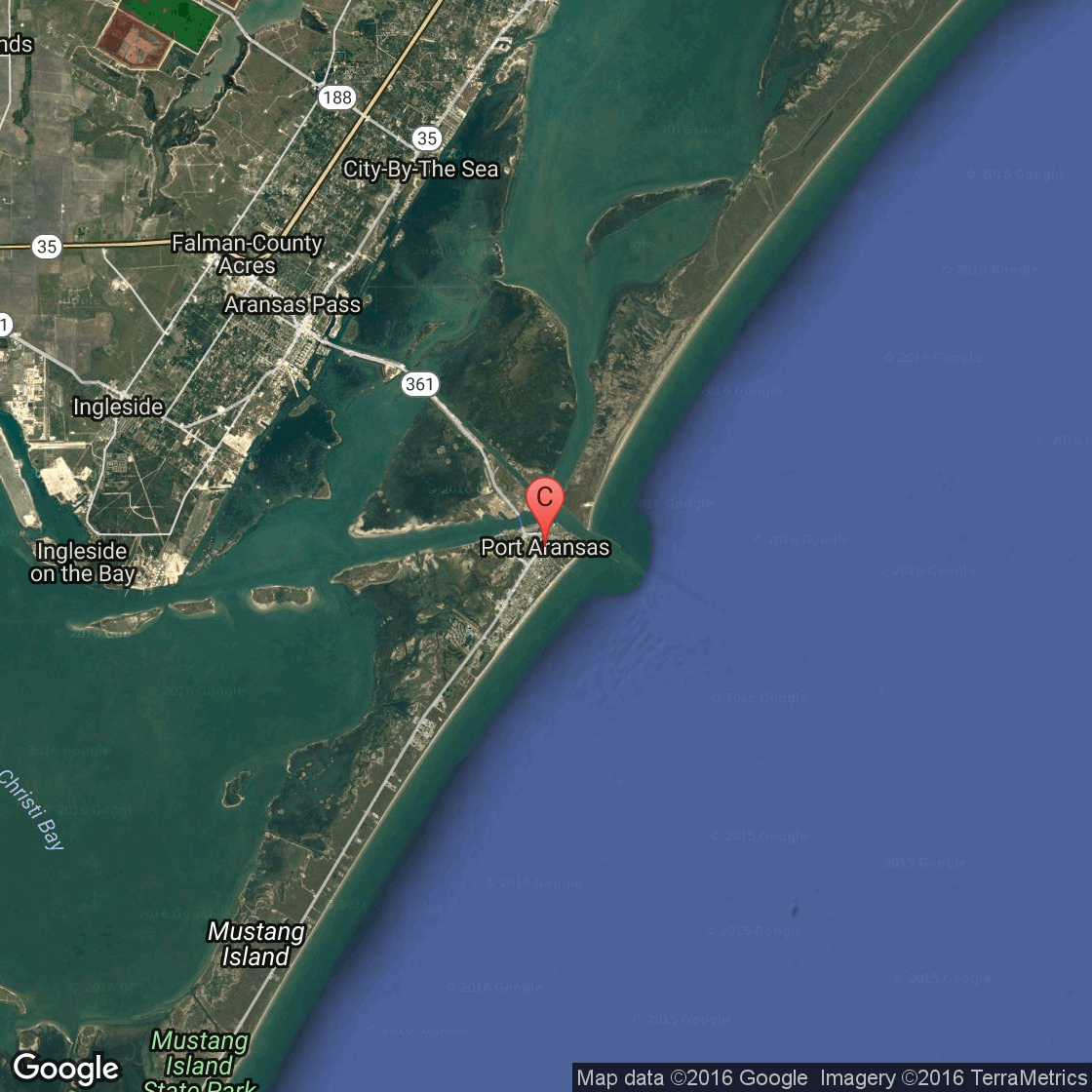 Map of port aransas tx hotels pictures to pin on pinterest for Port a texas