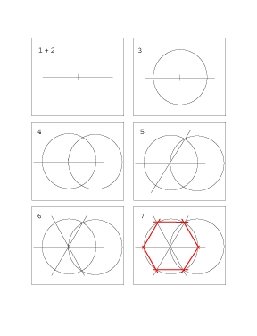 How to Construct a Hexagon
