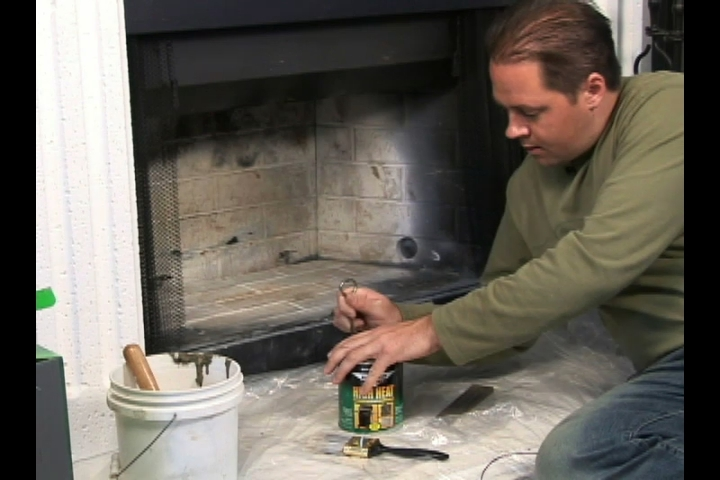Painting a Fireplace. Part of the series: Fireplace Cleaning. Watch as a seasoned professional demonstrates how to paint a fireplace in this free online video about fireplace cleaning.