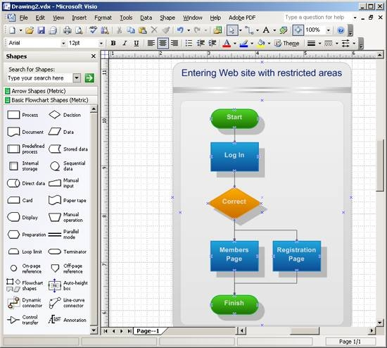 how to draw a flowchart in visio it still works Visio 2010 Process Flow Template