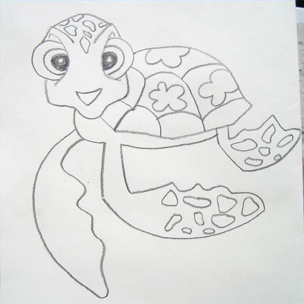 How To Draw A Sea Turtle From Finding Nemo Our Pastimes