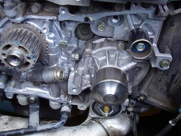 Replace Subaru Water Pump X on Subaru Legacy Thermostat Location