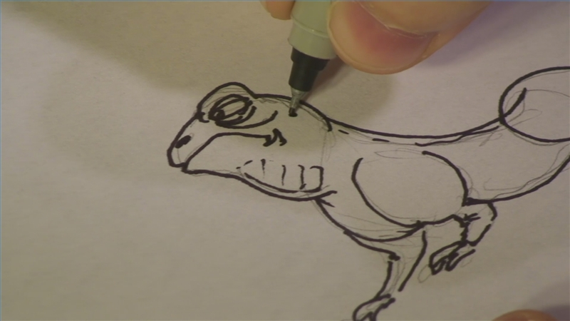 Line Drawing Of Desert Animals : Video: how to draw desert animals ehow