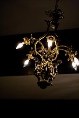 Refurbishing an old brass chandelier homesteady aloadofball Choice Image
