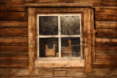 How To Frame The Exterior Of A Log Cabin Window Homesteady