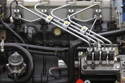 diesel truck blowing white smoke   exhaust  driving   runs
